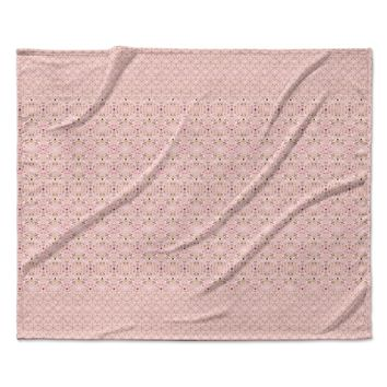 "Carolyn Greifeld ""Modern Shabby"" Pink Abstract Fleece Throw Blanket"