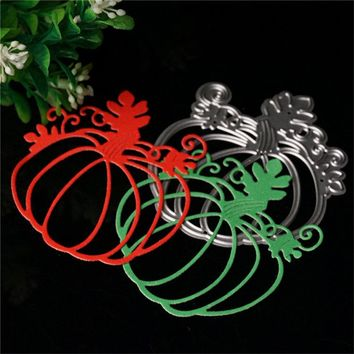 Halloween Pumpkin Cutting Dies Stencils For DIY Scrapbooking Photo Album Embossing Decorative Craft Dies Silver Metal Die #87