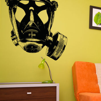 Vinyl Wall Decal Sticker Big Gas Mask #5335