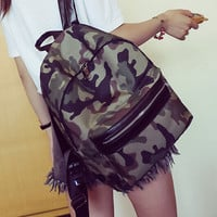 Backpacks For Teenage Girls Canvas Shoulder School Bag Camouflage Print Travel Satchel Rucksack bolsa feminina CF