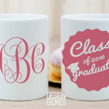 Class of 2016 personalized graduation monogram gift for college/high school graduation