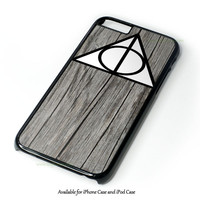 Black Wood Deathly Hallow Design for iPhone 4 4S 5 5S 5C 6 6 Plus, and iPod Touch 4 5 Case