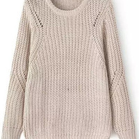 Khaki Knit Long Sleeve Sweater
