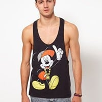 ASOS Vest With Mickey Mouse Print at asos.com