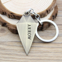 New Arrival Green Arrow Super Heros Metal Keychain Pendant Key Chain Chaveiro Key Ring KT251