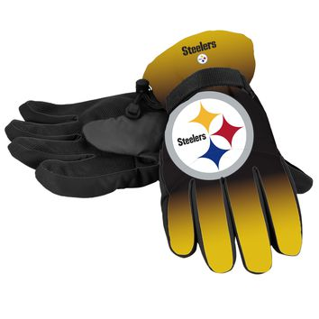Pittsburgh Steelers Official NFL Gradient Big Logo Insulated Gloves