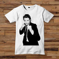 james franco breaking bad 10x12 inch white T shirt White Black Dsign t-shirt men S,M,L,XL