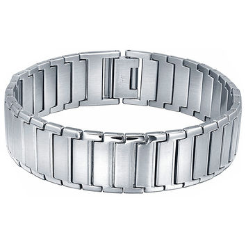 Stainless Steel Polished Classic Wide Bracelet