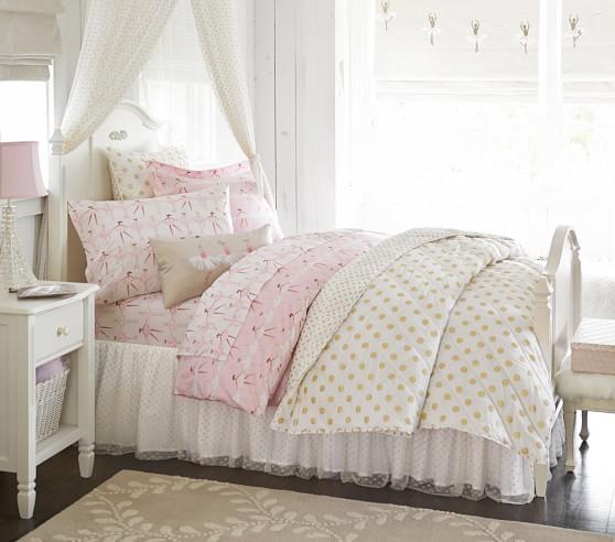Pottery Barn Polka Dot Bedding: Gold Polka Dot Quilted Bedding From Pottery Barn Kids