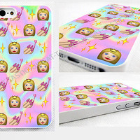 Tie Dye,princess,stars,nails, Emoji, iPhone 4,4s, 5C, 5S,5, glossy cover Case