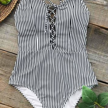 Cupshe True Joy Stripe One-piece Swimsuit
