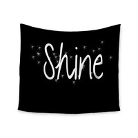 """Suzanne Carter """"Shine"""" Black White Wall Tapestry"""