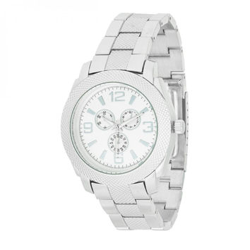Men's Chronograph Metal Watch - Silver