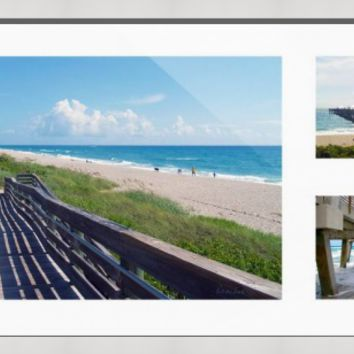 """Juno Beach Florida Seascape Collage "" by Ricardos Creations"
