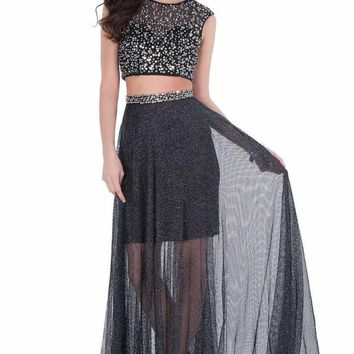 Terani Couture - Shimmering Two Piece Evening Dress 1622H1152
