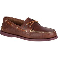 Authentic Original 2-Eye Color Pop Boat Shoe in Brown/Plum by Sperry