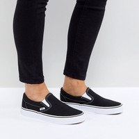 Vans Classic Slip On Sneakers In Black And White at asos.com