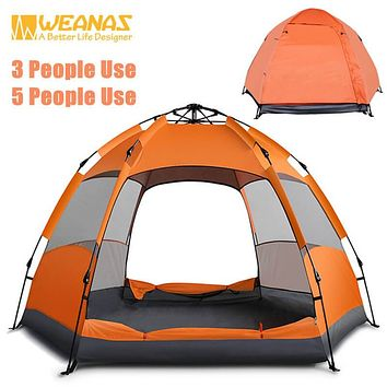 Weanas™ 3-5 Person Large Foldable Lightweight Family Backpacking Tent