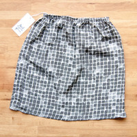 Painted Boxes Silk Skirt - Size S/M