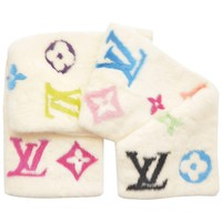 Louis Vuitton X Takashi Murakami Mink Long Scarf NEW