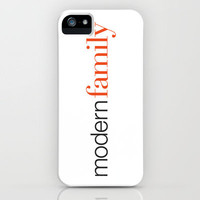 Modern Family Text iPhone Case by Rorzzer