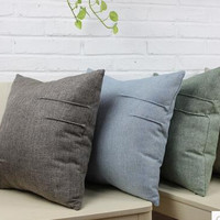 45*45CM Linen Nap Solid Cushion Cover Home Decor Sofa Throw Pillow Case Hot Sale Free Shipping