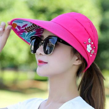 ONETOW Women Bucket Hat - Summer Fishing Fisher Beach Festival Sun Cap UV Protection Polyester Casual Adult Lady Sun Hats