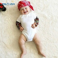 Newborn boy girl clothes long-sleeved clothes for boy tattoo