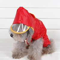 Grail Trendy Winter Waterproof Pet Dog Hooded Hoodie Raincoat Slicker Dust Coat Clothes L/M/S = 1932457348