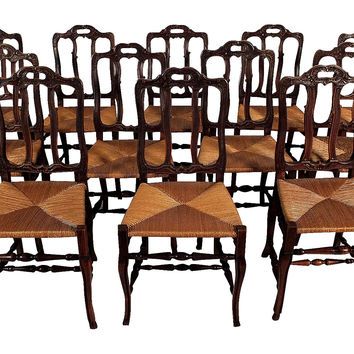 French Dining Chairs,  S/12