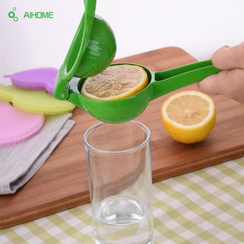 Lemon Squeezer Aluminum Alloy Lime Orange Juicer Press Green Yellow Fruit & Vegetable Kitchen Tools 2017 High Quality