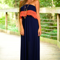 Halftime Special Maxi, Navy/Orange