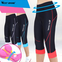 WEST BIKING GEL 3D Padded Elasticity Quick Dry Sport Wear Ciclismo Bicicleta Maillot Women Mountain Bike Bicycle Cycling Shorts