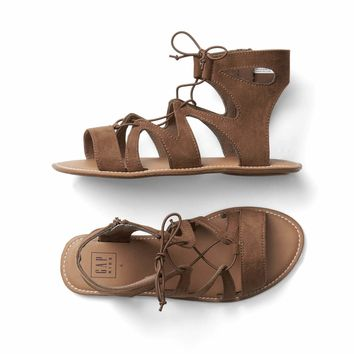 Lace-up strap sandals | Gap