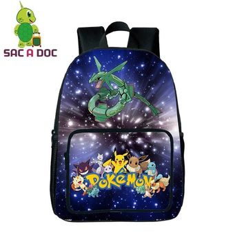 Cool Galaxy  Rayquaza School Backpack for Teenagers Universe Space Printing Backpacks Boys Girls School Bags DaypackKawaii Pokemon go  AT_89_9