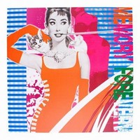 Wake Up Frankie - Audrey in Technicolor Canvas Art