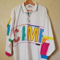 Vintage 80s Shirt CAMP Shirt Camp Beverly Hills Shirt Fresh Prince of Bel Air Polo Shi