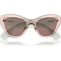Miu Miu - Two-tone cat eye acetate sunglasses