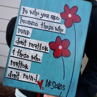Teacher appreciation clipboard be who you are dr. Seuss