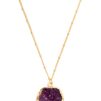 Havanna Crystal Necklace - Purple