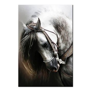 Animal Canvas Art Prints for Living Room Home Decoration Horse Painting Wall Art Canvas Painting(Frame:No)