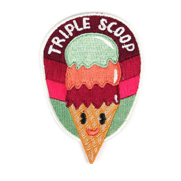 Triple Scoop Iron On Patch