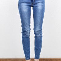 Faded Out Solid Skinny Jeans {L. Wash}