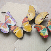 Wooden Butterfly Paperclips Mini Clothes Pins Tiny Pegs Photo Decoration Picture Clips