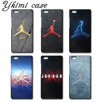 Fashion Jordan 23 phone cases for Huawei Ascend P6 cover case luxurious black plastic