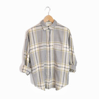 Vintage DVF Flannel Plaid Shirt - Diane Von Furstenberg - women's medium