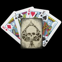 Ace death Card Playing cards from Zazzle.com