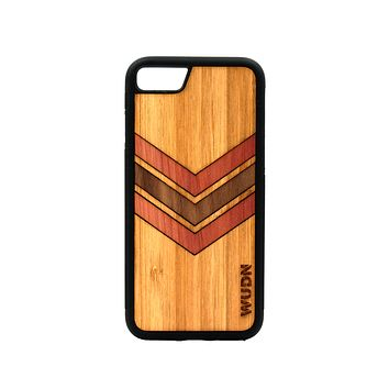 Slim Wooden Phone Case | Geometric Arrow Inlays