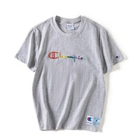 Supreme x Kith Woman Men Fashion Embroidery T-Shirt Top Tee