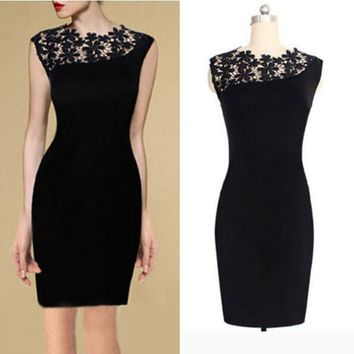 Women's Little Black BodyCon Dress